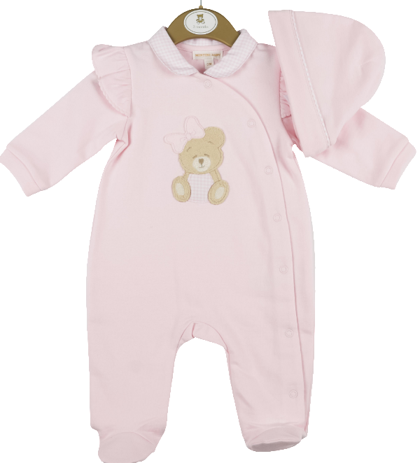 Mintini Baby Mintini teddy all in one and hat MB4412