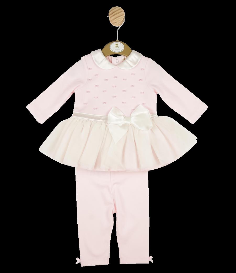 Mintini Baby Mintini pearl tutu dress and leggings set MB4350