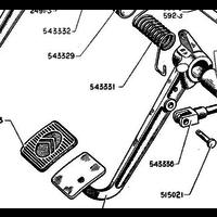 thumb-Garnitur für Kupplungspedal Citroën Traction Avant-6