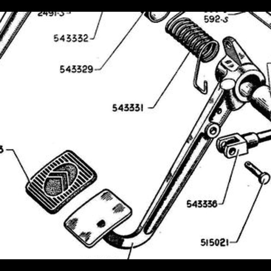 Garnitur für Kupplungspedal Citroën Traction Avant-6