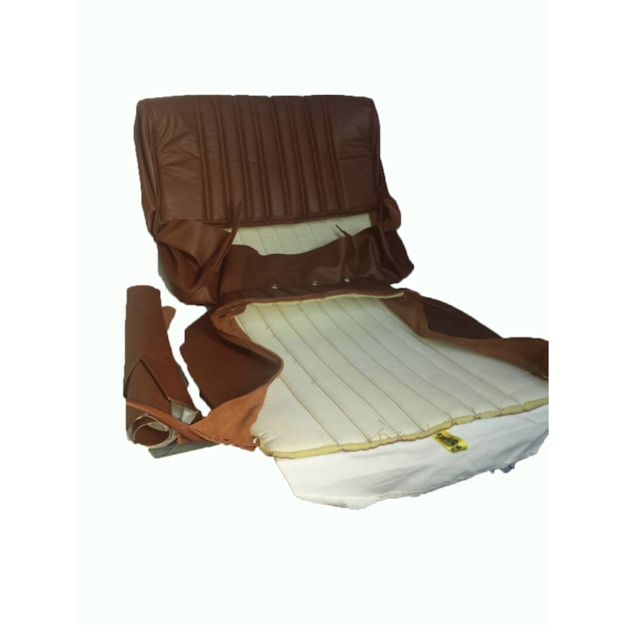 Front seat cover brown leather Citroën ID/DS-3
