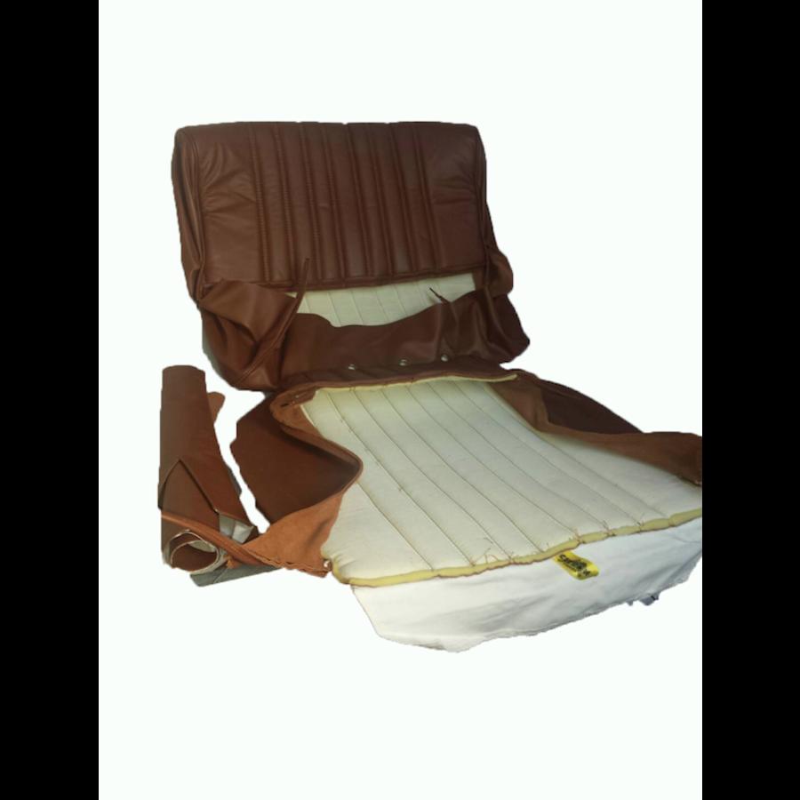Garniture origine siège AV cuir marron (assise dossier panneau de fermeture pour dossier AV avec ressorts) Citroën ID/DS-3