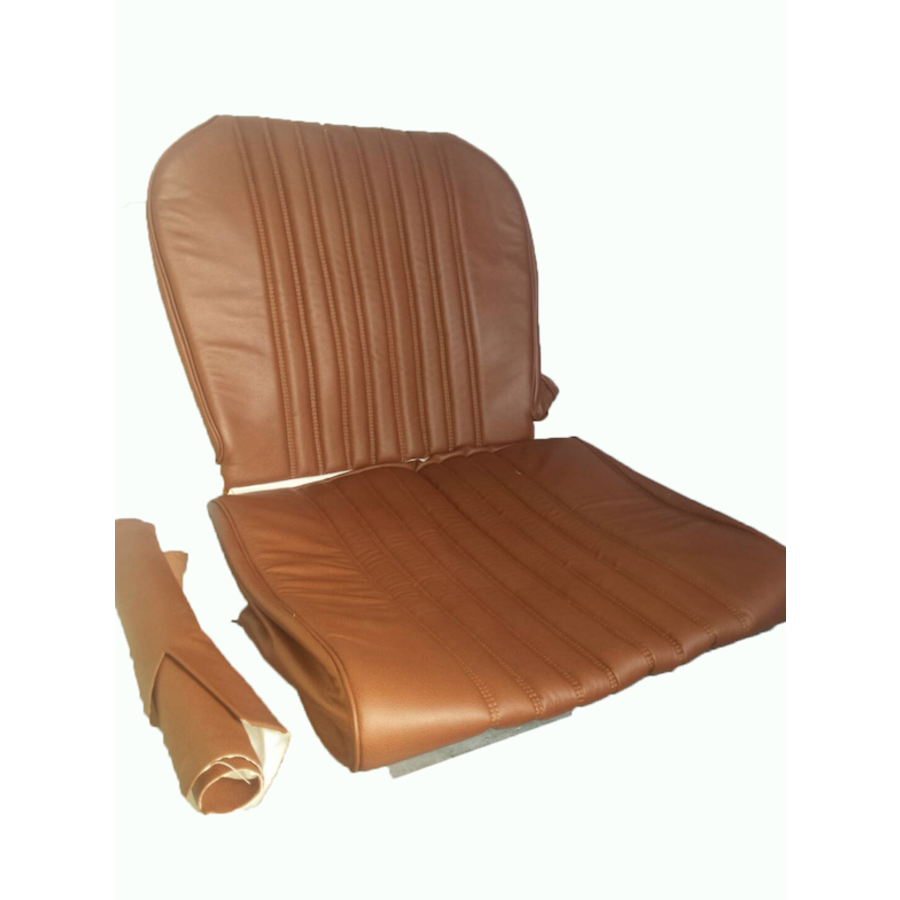 Front seat cover brown leather Citroën ID/DS-5