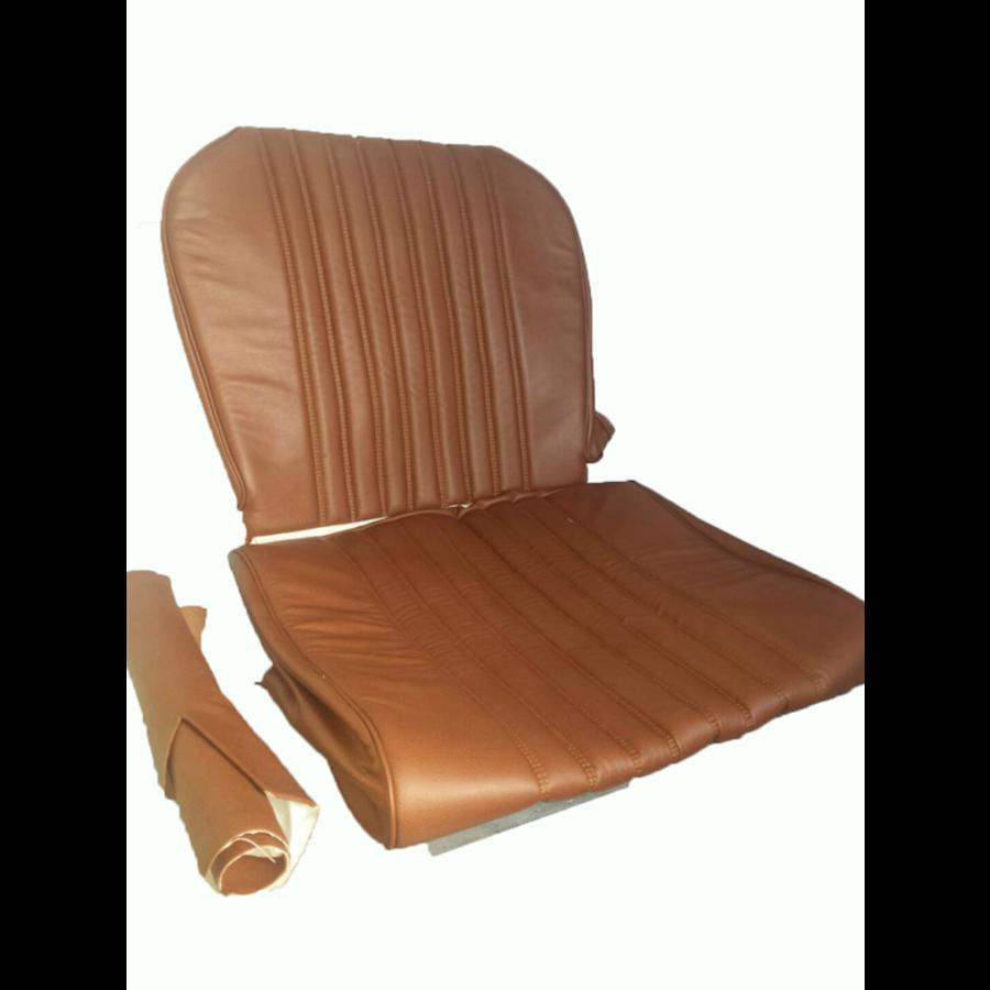 Garniture origine siège AV cuir marron (assise dossier panneau de fermeture pour dossier AV avec ressorts) Citroën ID/DS-5