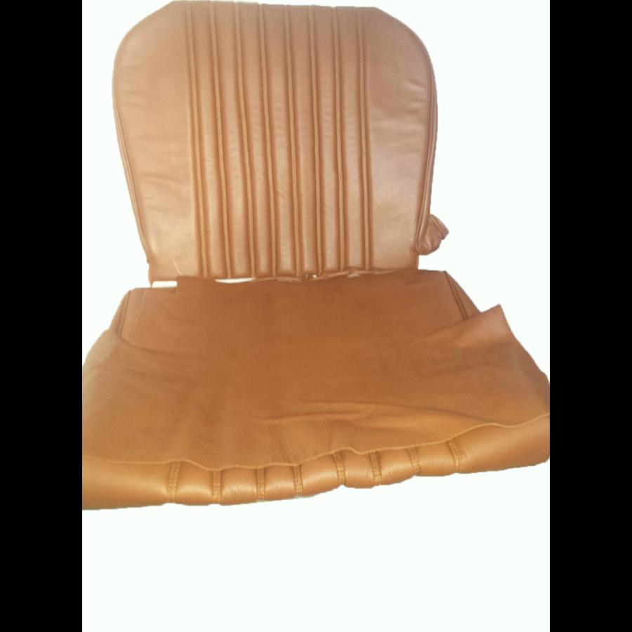 Garniture origine siège AV cuir marron (assise dossier panneau de fermeture pour dossier AV avec ressorts) Citroën ID/DS-8