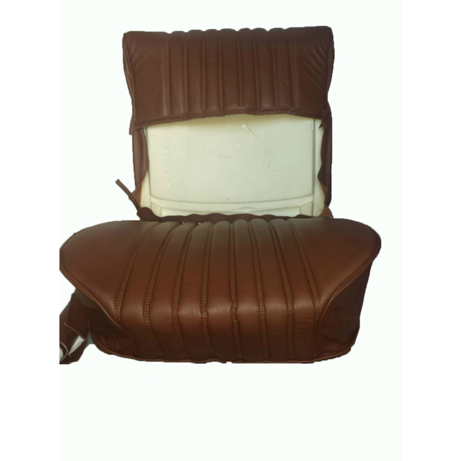 Front seat cover brown leather Citroën ID/DS-10