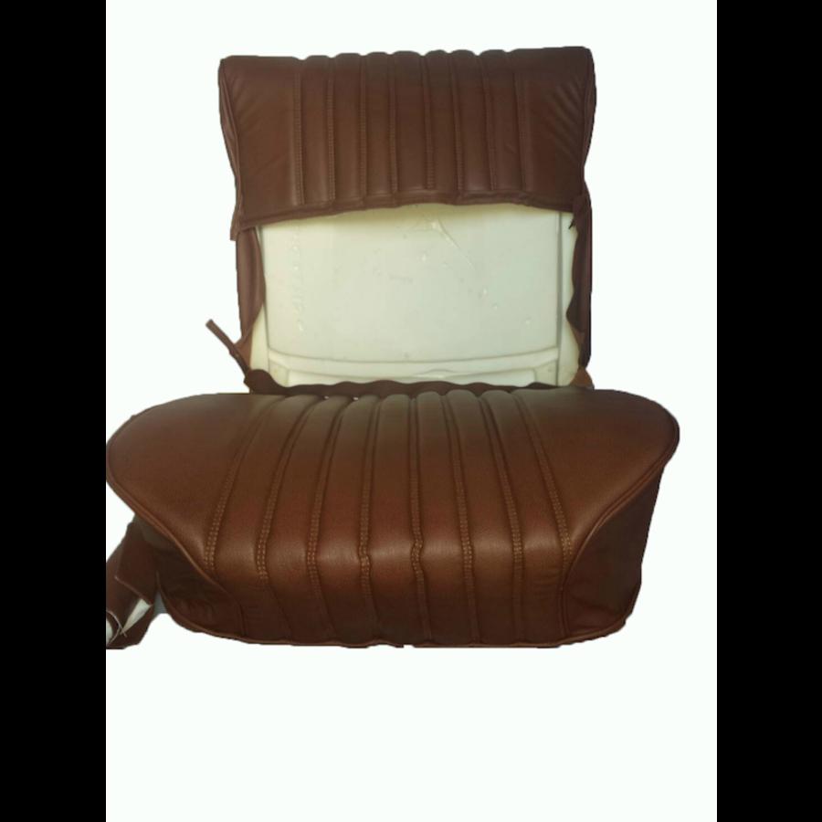 Garniture origine siège AV cuir marron (assise dossier panneau de fermeture pour dossier AV avec ressorts) Citroën ID/DS-10