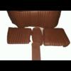 ID/DS Garniture origine banquette AR BL cuir marron (assise 1 pièce dossier 4 pièces) Citroën ID/DS