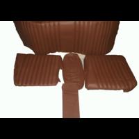 thumb-Garniture origine banquette AR BL cuir marron (assise 1 pièce dossier 4 pièces) Citroën ID/DS-1