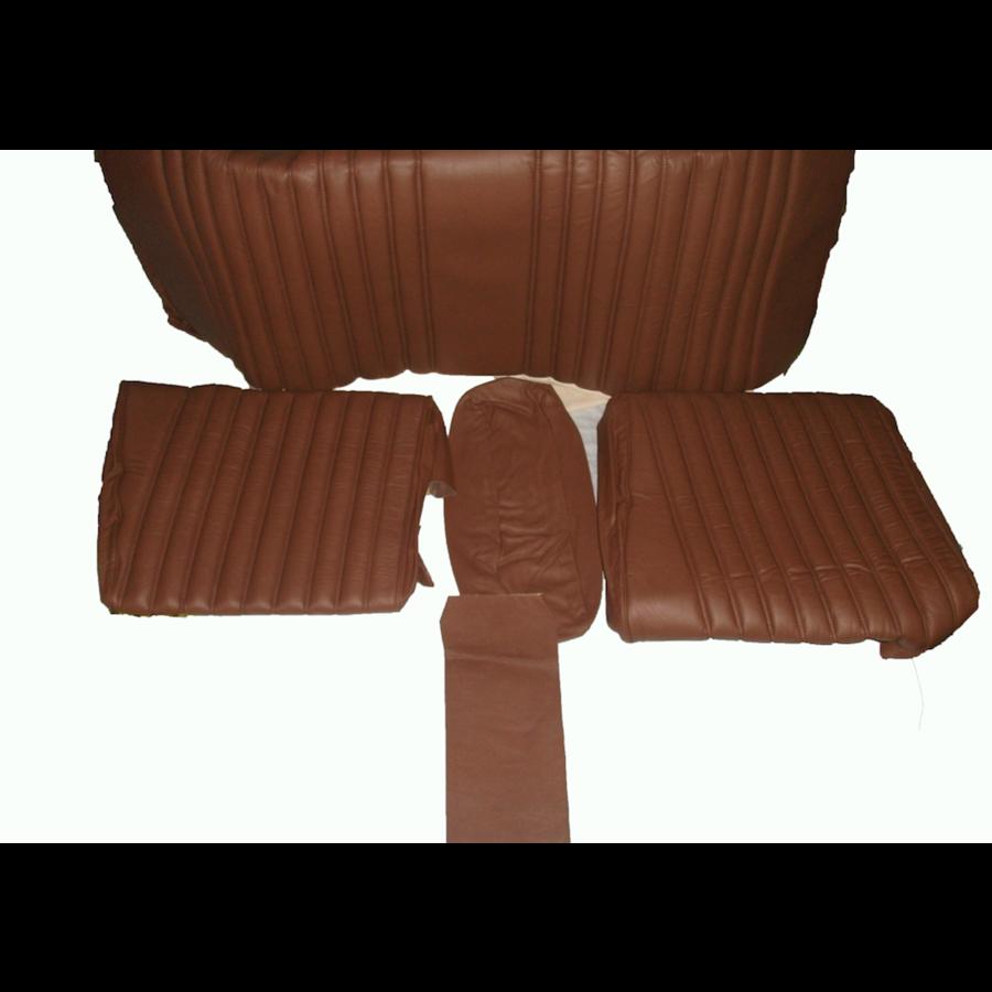 Garniture origine banquette AR BL cuir marron (assise 1 pièce dossier 4 pièces) Citroën ID/DS-1
