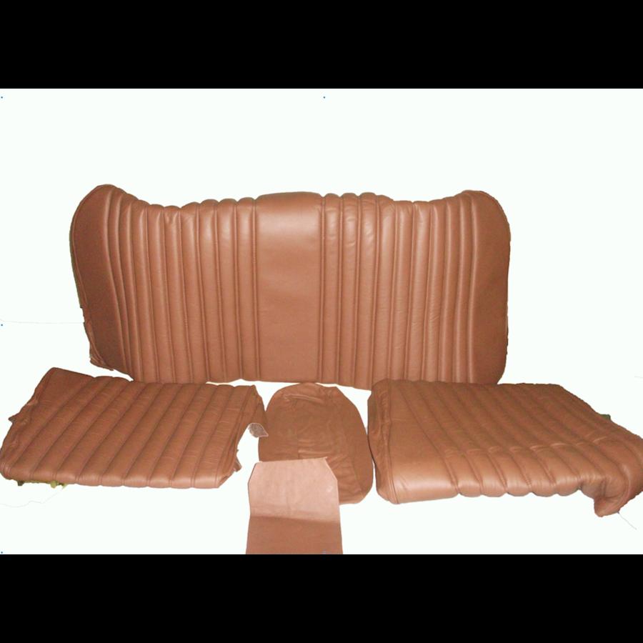 Garniture origine banquette AR BL cuir marron (assise 1 pièce dossier 4 pièces) Citroën ID/DS-3