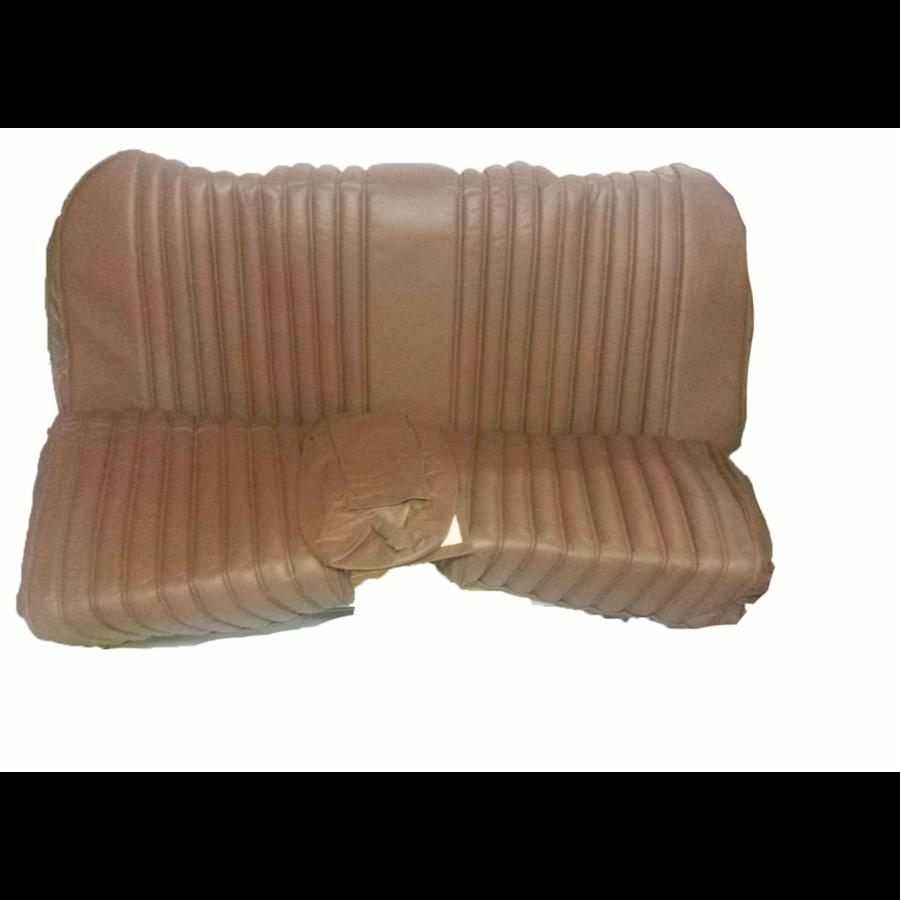 Garniture origine banquette AR BL cuir marron (assise 1 pièce dossier 4 pièces) Citroën ID/DS-6