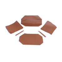 thumb-Garniture origine pour banquette AR strapontins BK (jeu pour deux strapontins) cuir marron Citroën ID/DS-1