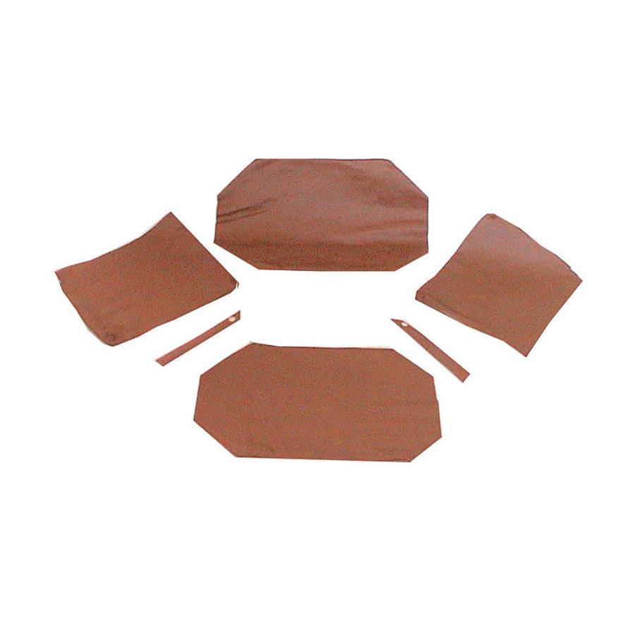 Garniture origine pour banquette AR strapontins BK (jeu pour deux strapontins) cuir marron Citroën ID/DS-1