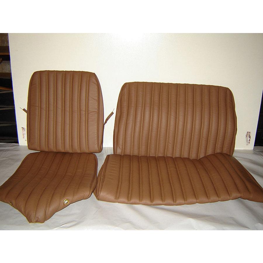 Original Sitzbezug Satz für Hinterbank Break leder-bezogen braun (Sitz 2 Teile Rückenlehne 2 Teile) Citroën ID/DS-2