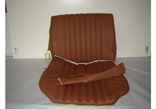 Front seat cover light brown leather for foam back Citroën ID/DS