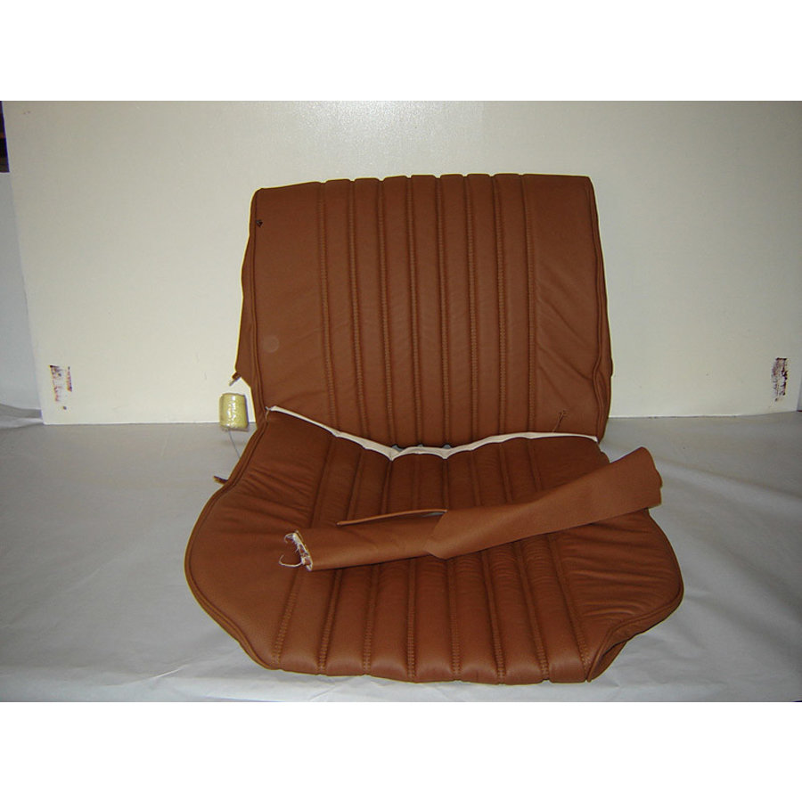 Front seat cover light brown leather for foam back Citroën ID/DS-1