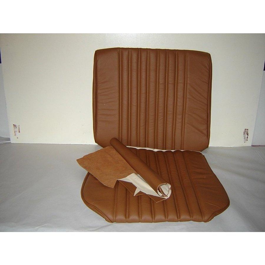 Garniture origine siège AV cuir tabac (assise dossier panneau de fermeture pour dossier en mousse) Citroën ID/DS-6