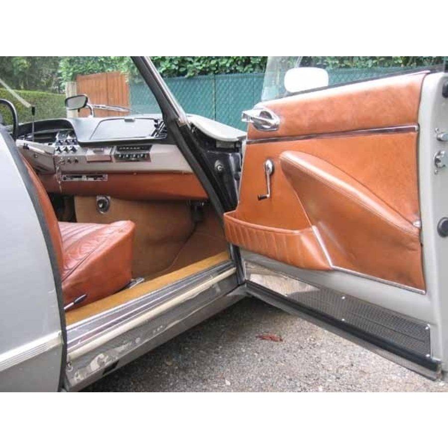 Original Sitzbezug Satz für Vordersitz leder-bezogen tabakfarbig (Sitz Rückenlehne Abschlussfüllung für Feder-Rücken) Citroën ID/DS-3