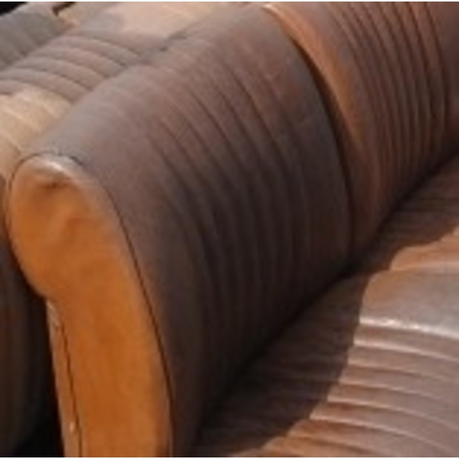 Front seat cover light brown leather Citroën ID/DS-5