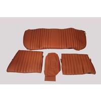 thumb-Garniture origine banquette AR BL cuir tabac (assise 1 pièce dossier 4 pièces) Citroën ID/DS-1