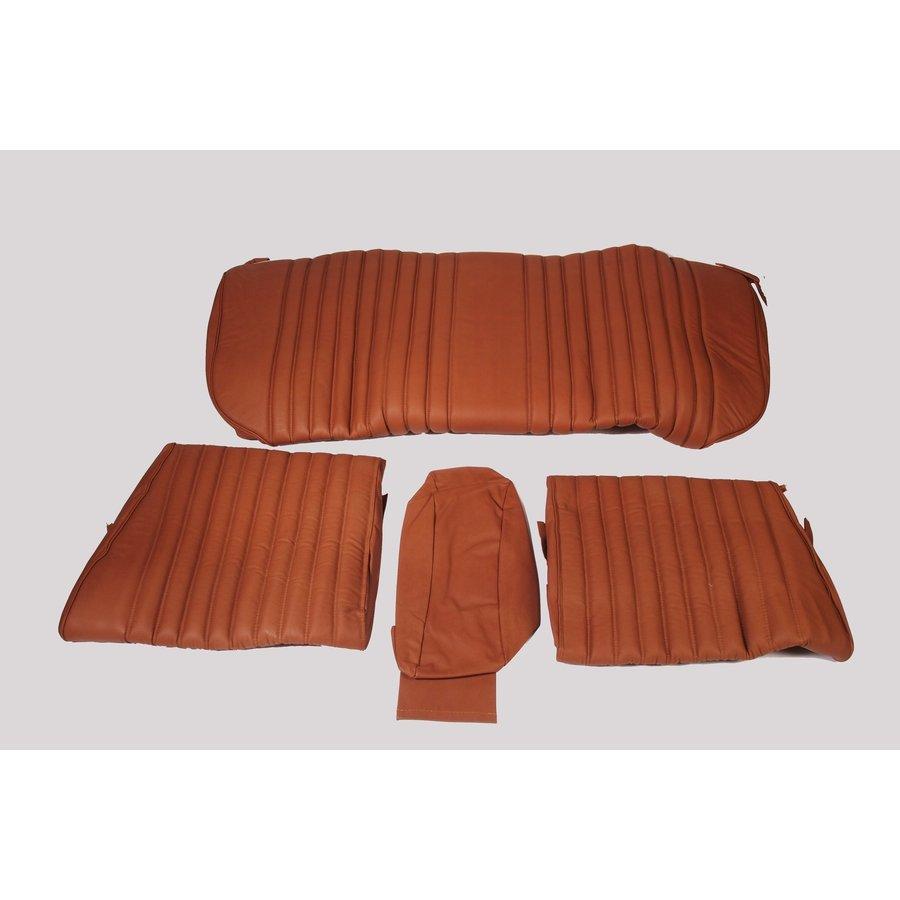 Garniture origine banquette AR BL cuir tabac (assise 1 pièce dossier 4 pièces) Citroën ID/DS-1
