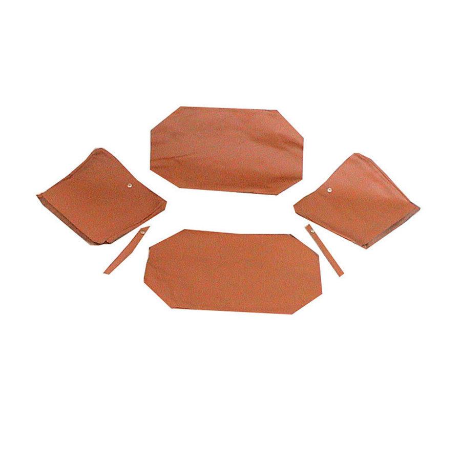 Garniture origine pour banquette AR strapontins BK (jeu pour deux strapontins) cuir tabac Citroën ID/DS-1