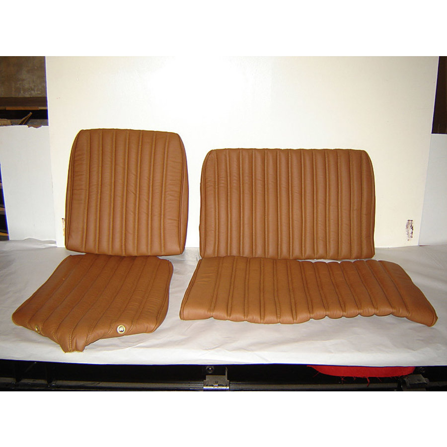 Rear bench cover light brown leather safari Citroën ID/DS-1