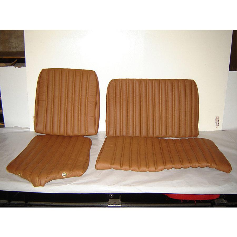 Garniture origine banquette AR BK (en 2 pieces) cuir tabac (assise 2 pièces dossier 2 pièces) Citroën ID/DS-2