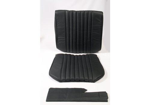 ID/DS Original Sitzbezug Satz für Vordersitz leder-bezogen schwarz (Sitz Rückenlehne Abschlussfüllung für Feder-Rücken) Citroën ID/DS