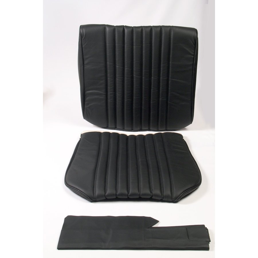 Front seat cover black leather Citroën ID/DS-1