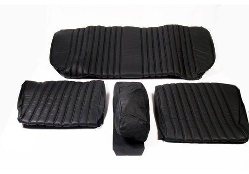 ID/DS Garniture origine banquette AR BL cuir noir (assise 1 pièce dossier 4 pièces) Citroën ID/DS