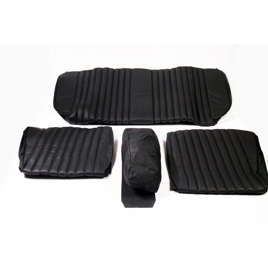 Rear bench cover black leather Citroën ID/DS-1