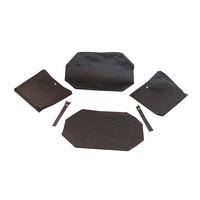 thumb-Garniture origine pour banquette AR strapontins de BK (jeu pour deux strapontins) cuir noir Citroën ID/DS-1