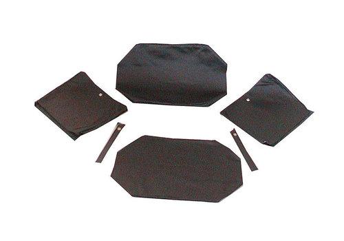 ID/DS Garniture origine pour banquette AR strapontins de BK (jeu pour deux strapontins) cuir noir Citroën ID/DS