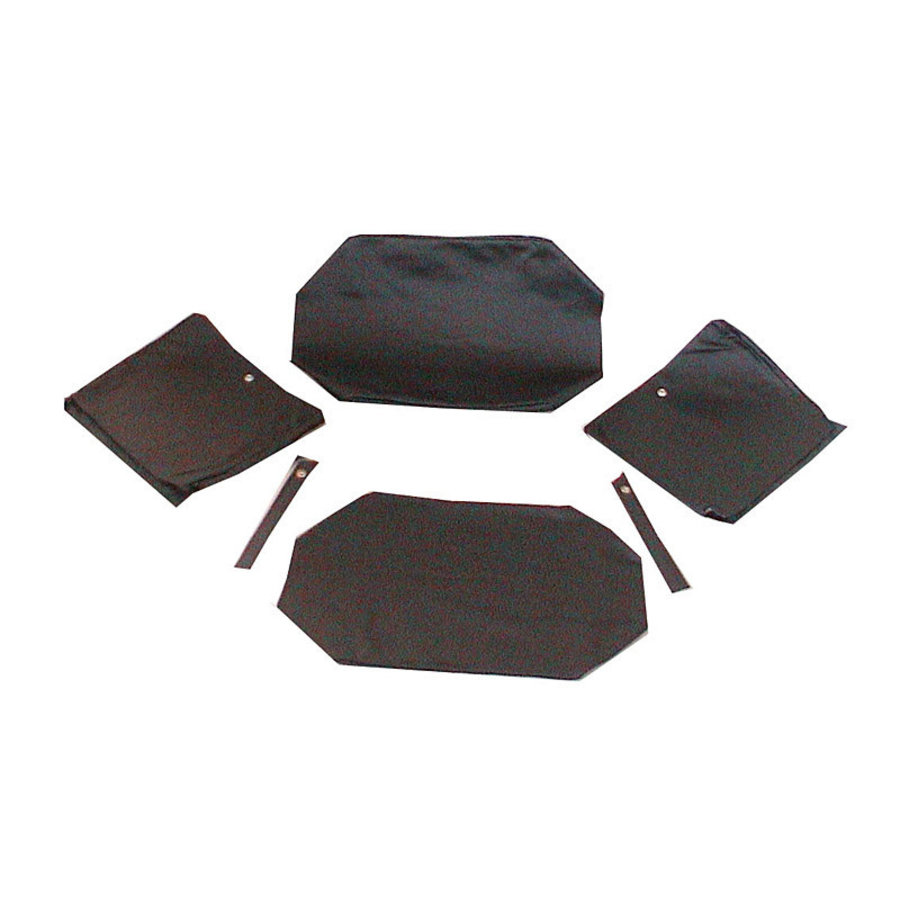Garniture origine pour banquette AR strapontins de BK (jeu pour deux strapontins) cuir noir Citroën ID/DS-1
