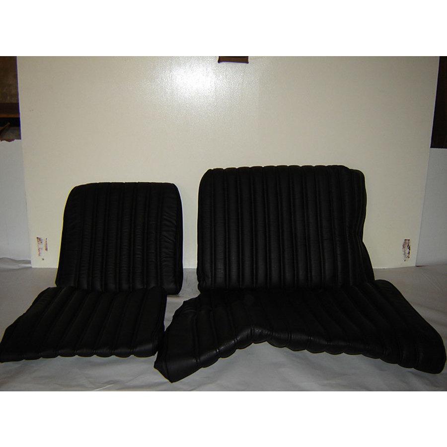 Garniture origine banquette AR BK (en 2 pieces) cuir noir (assise 2 pièces dossier 2 pièces) Citroën ID/DS-1
