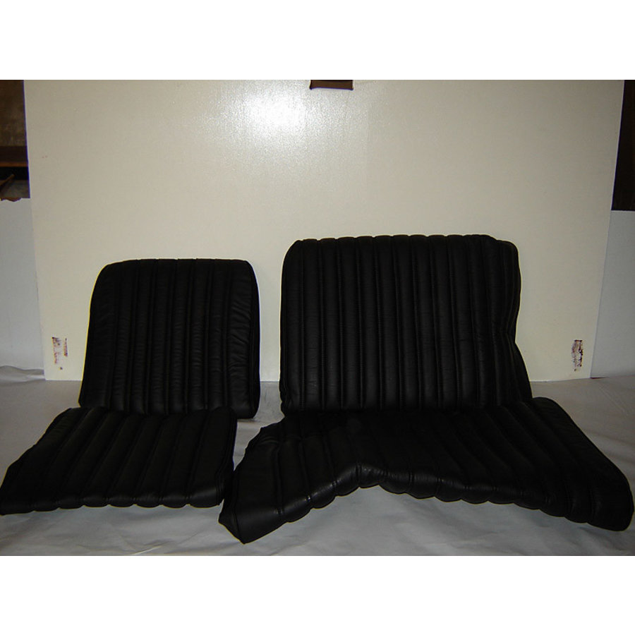 Rear bench cover black leather safari Citroën ID/DS-2