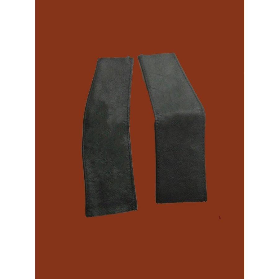 Pièces en cuir [2] pour recouvrir les ressorts du siège AV avant 68 noir Citroën ID/DS-6