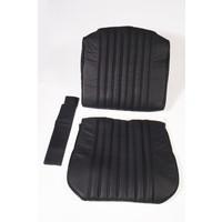 thumb-Voorstoelhoes zwart leer voor schuim Citroën ID/DS-1