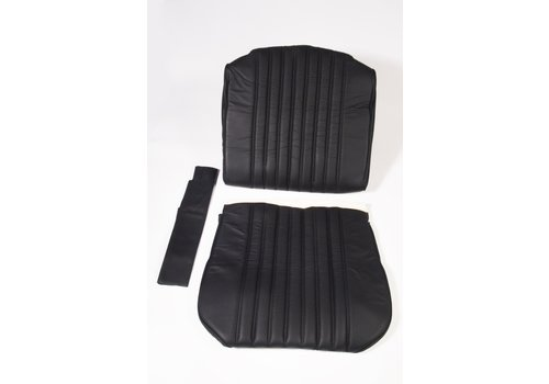 ID/DS Front seat cover black leather for foam back Citroën ID/DS
