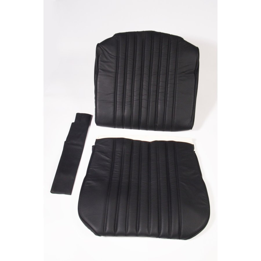 Front seat cover black leather for foam back Citroën ID/DS-1