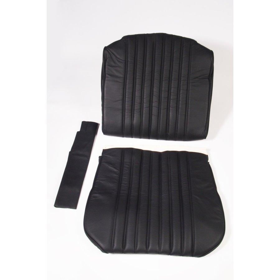 Original Sitzbezug Satz für Vordersitz leder-bezogen schwarz (Sitz Rückenlehne Abschlussfüllung für Schaum-Rücken) Citroën ID/DS-1