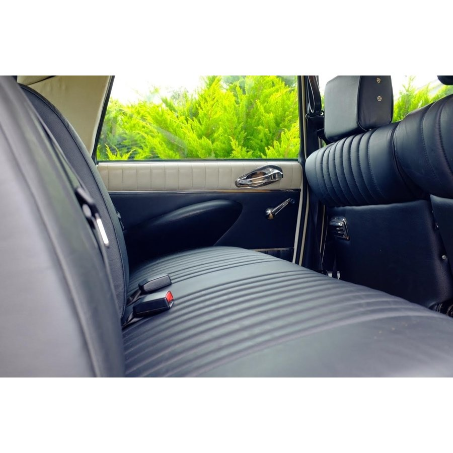 Front seat cover black leather for foam back Citroën ID/DS-3