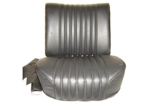 Dossier à ressort pour siège AV à manette tournante mousse pour assise pièce de dos inclue garni de cuir noir Citroën ID/DS