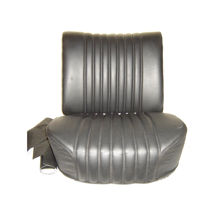 Dossier à ressort pour siège AV à manette tournante mousse pour assise pièce de dos inclue garni de cuir noir Citroën ID/DS-1
