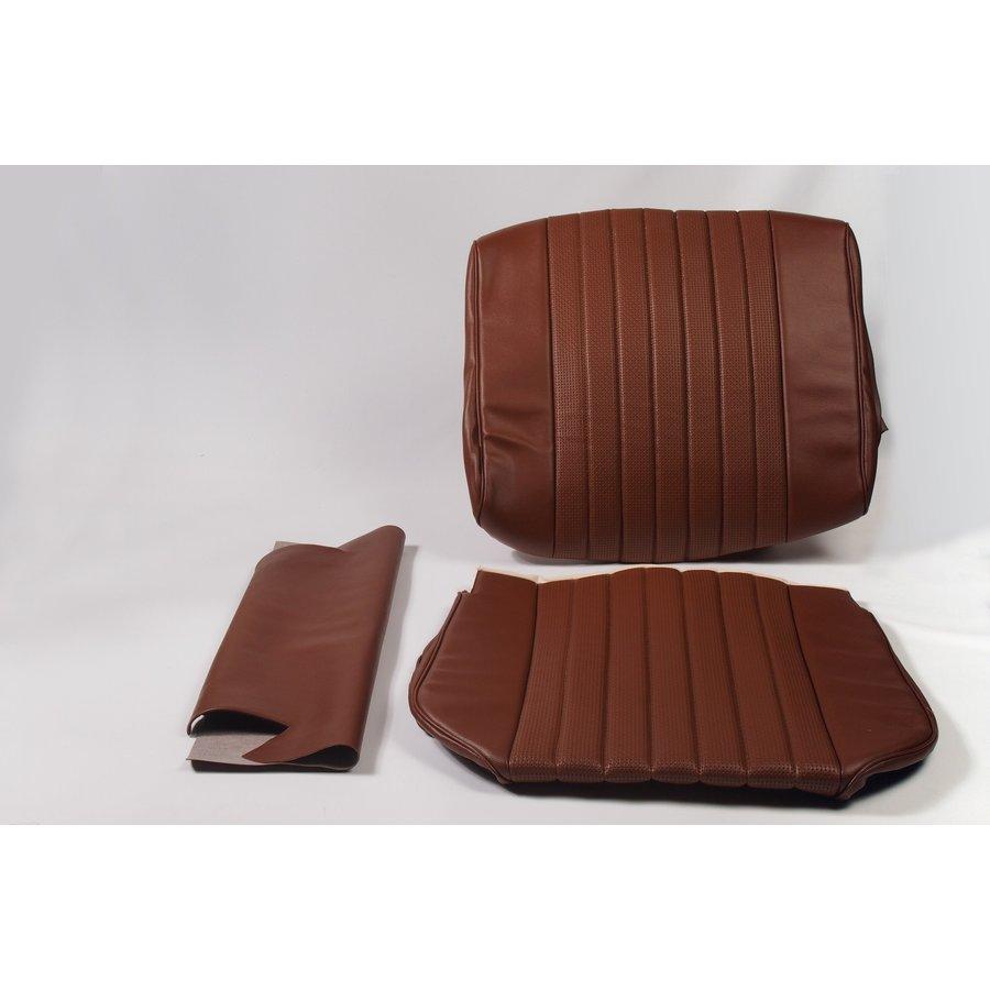 Garniture origine siège AV simili marron (assise dossier panneau de fermeture pour dossier en mousse) Citroën ID/DS-1