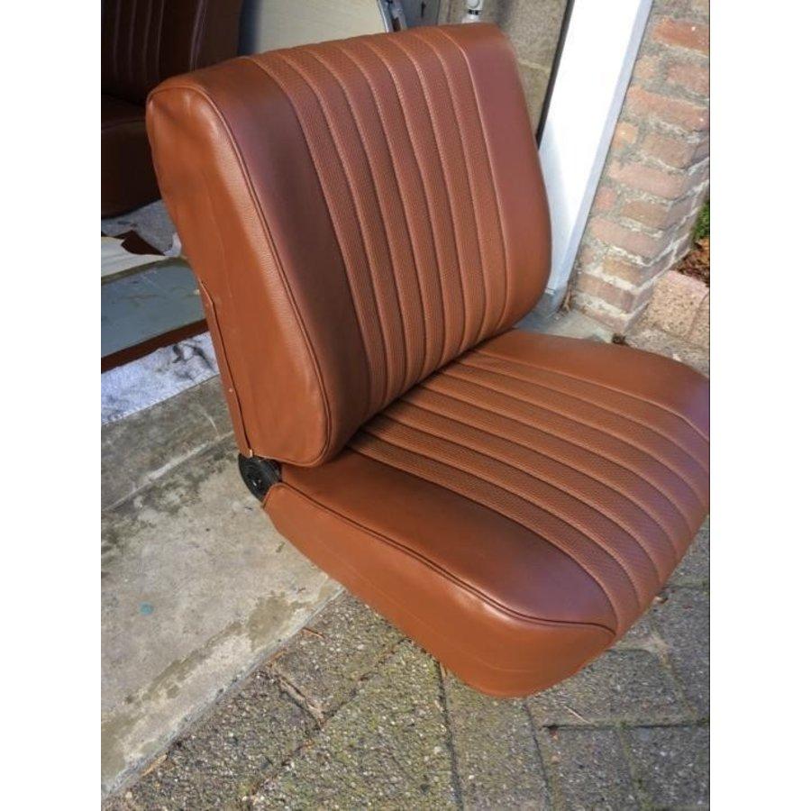 Garniture origine siège AV simili marron (assise dossier panneau de fermeture pour dossier en mousse) Citroën ID/DS-7