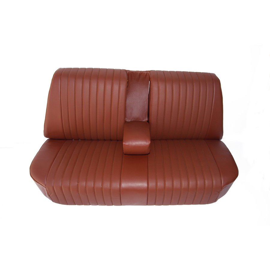 Rear bench newly trimmed in brown leatherette Citroën ID/DS-2