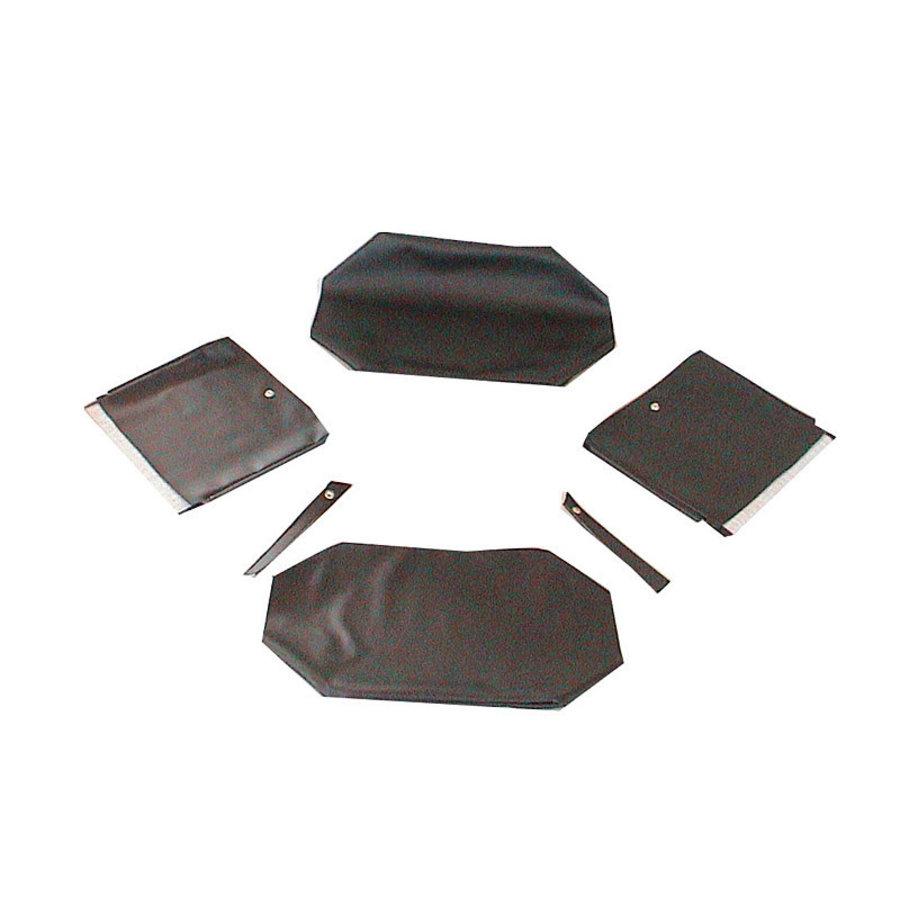 Garniture origine pour banquette AR strapontins BK (jeu pour deux strapontins) simili noir Citroën ID/DS-2